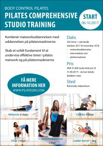 Comprehensive studio training for Body Control Pilates